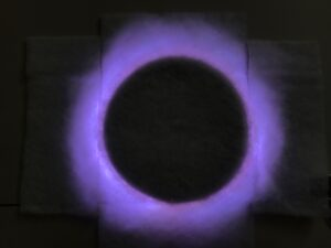 Corona-solar eclipse